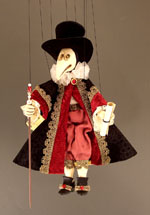 Small Venetian Plague Doctor Marionette